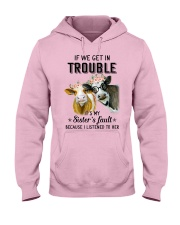 If we get in trouble cow Hooded Sweatshirt thumbnail