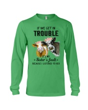 If we get in trouble cow Long Sleeve Tee thumbnail