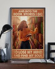 Poster Book and bookstores i go lose my mind 24x36 Poster lifestyle-poster-2
