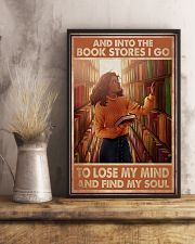 Poster Book and bookstores i go lose my mind 24x36 Poster lifestyle-poster-3
