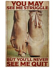 Poster Ballet never see me quit 24x36 Poster front