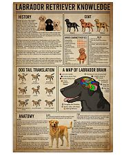 poster labrador retriever know 24x36 Poster front