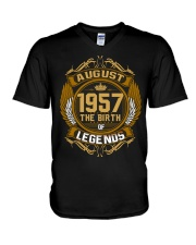 August 1957 The Birth of Legends V-Neck T-Shirt thumbnail