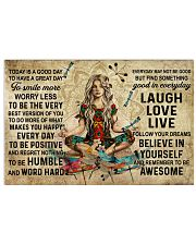 Yoga Makes You Happy Poster - Canvas  36x24 Poster front
