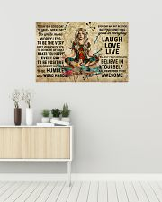 Yoga Makes You Happy Poster - Canvas  36x24 Poster poster-landscape-36x24-lifestyle-01