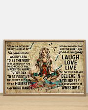 Yoga Makes You Happy Poster - Canvas  36x24 Poster poster-landscape-36x24-lifestyle-03