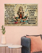 Yoga Makes You Happy Poster - Canvas  36x24 Poster poster-landscape-36x24-lifestyle-18