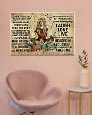 Yoga Makes You Happy Poster - Canvas  36x24 Poster poster-landscape-36x24-lifestyle-19