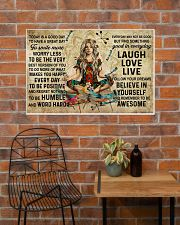 Yoga Makes You Happy Poster - Canvas  36x24 Poster poster-landscape-36x24-lifestyle-20