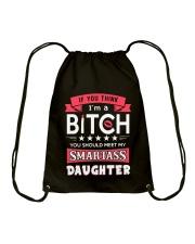 Smartass daughter Drawstring Bag thumbnail