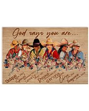 Poster horse god say you are 36x24 Poster front