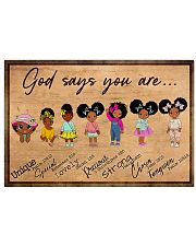 Poster black queen strong girl 36x24 Poster front