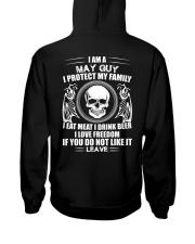 May guy Hooded Sweatshirt back