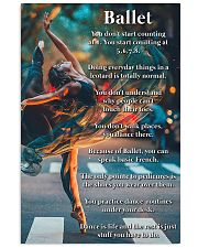 Poster Ballet dance is life 24x36 Poster front