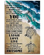 Poster Mermaid today is good day 24x36 Poster front