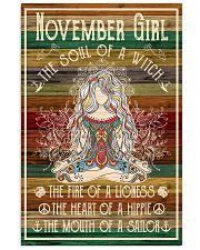 Poster Yoga november girl 24x36 Poster front
