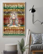 Poster Yoga november girl 24x36 Poster lifestyle-poster-1