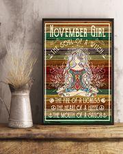 Poster Yoga november girl 24x36 Poster lifestyle-poster-3