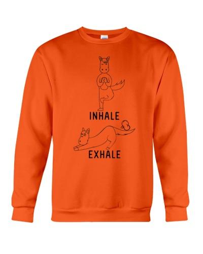 horse yoga inhale