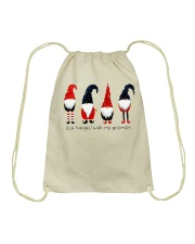 Christmas 4 santas Drawstring Bag thumbnail