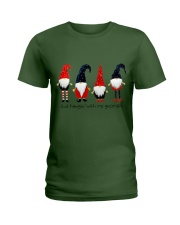 Christmas 4 santas Ladies T-Shirt thumbnail