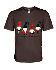 Christmas 4 santas V-Neck T-Shirt thumbnail