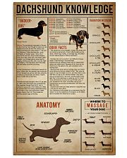 poster dachshund 24x36 Poster front