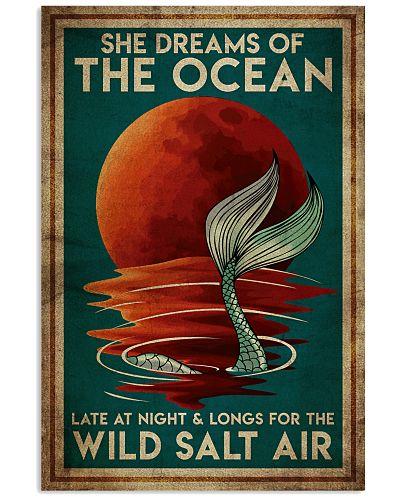 Poster Mermaid wild salt air