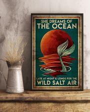 Poster Mermaid wild salt air 24x36 Poster lifestyle-poster-3