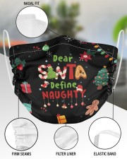 2 Layer Face Mask Christmas Dear Santa 2 Layer Face Mask - Single aos-face-mask-2-layers-lifestyle-front-51