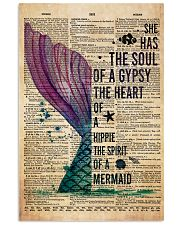 Poster Mermaid the heart 24x36 Poster front