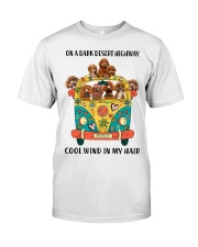 Poodle cool wind Classic T-Shirt front