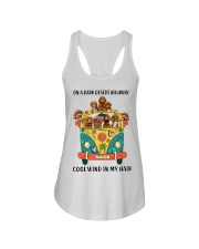 Poodle cool wind Ladies Flowy Tank thumbnail