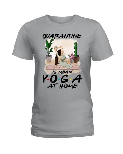 Quarantine yoga at home