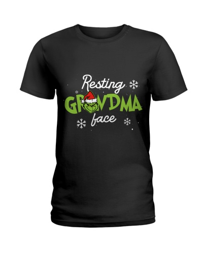 Christmas grandma face