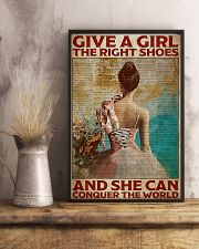 Poster Ballet give a girl true shoes 24x36 Poster lifestyle-poster-3
