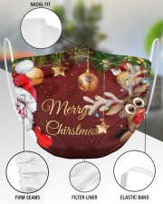 2 Layer Face Mask Christmas Merry Xmas 2 Layer Face Mask - Single aos-face-mask-2-layers-lifestyle-front-51