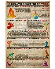 Poster Yoga 10 health 24x36 Poster front