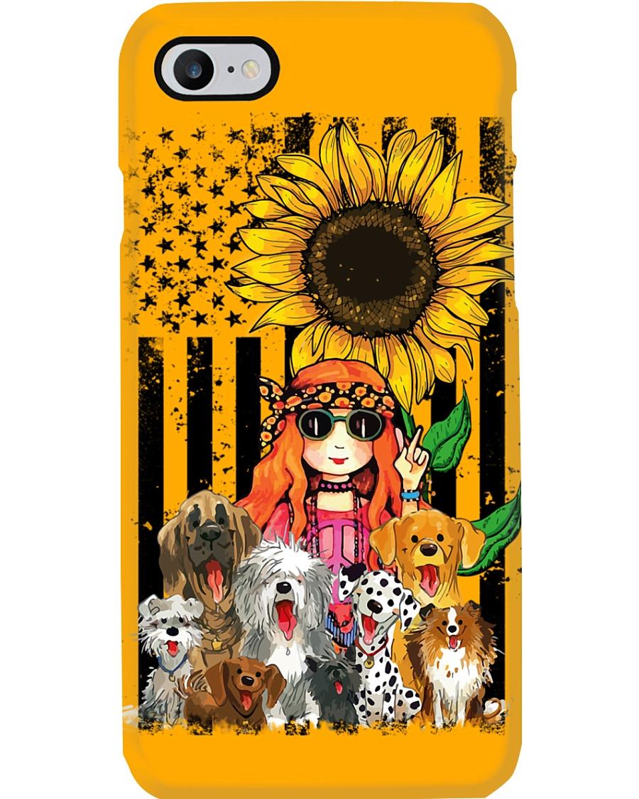 girlndogs sunflower  Phone Case