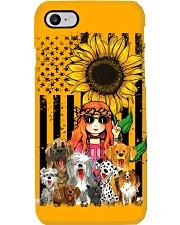 girlndogs sunflower  Phone Case i-phone-7-case
