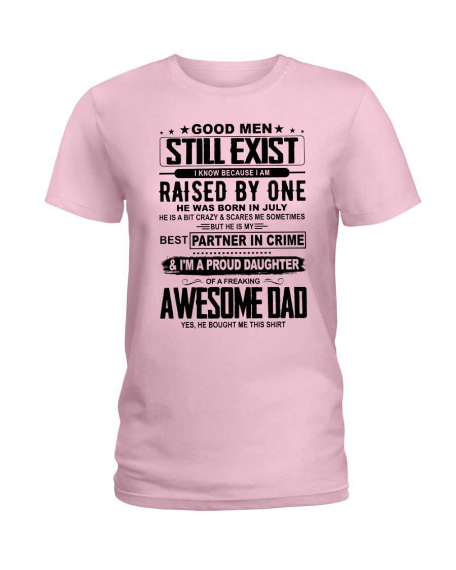 July Awesome Dad Ladies T-Shirt