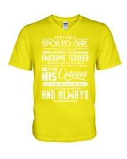 October Teacher girl V-Neck T-Shirt thumbnail