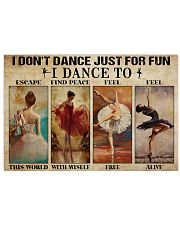 Poster Ballet i dont dance just for fun 36x24 Poster front