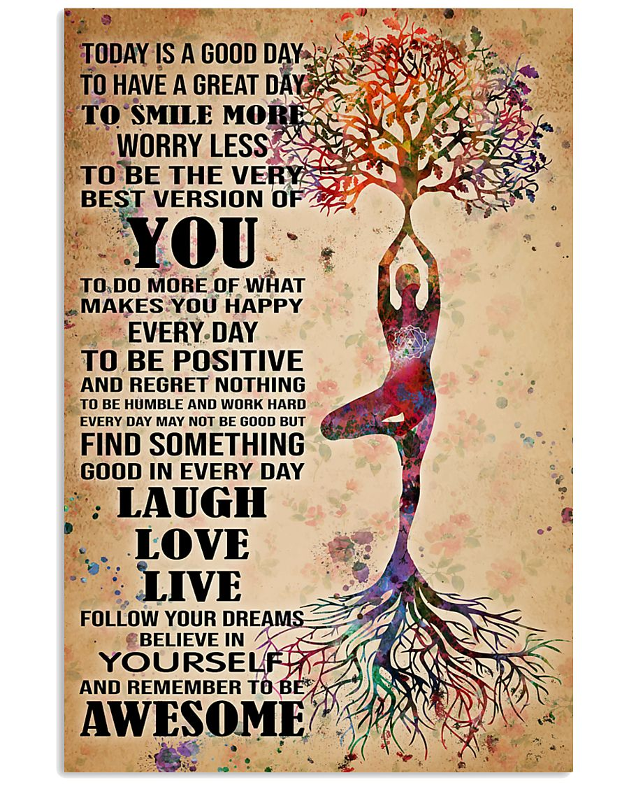 Poster Yoga to smile more 24x36 Poster