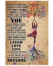 Poster Yoga to smile more 24x36 Poster front