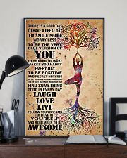 Poster Yoga to smile more 24x36 Poster lifestyle-poster-2