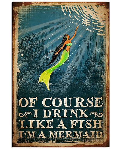 Poster Mermaid of course drink