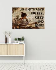 Poster Book coffee cats and book 36x24 Poster poster-landscape-36x24-lifestyle-01