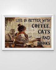 Poster Book coffee cats and book 36x24 Poster poster-landscape-36x24-lifestyle-02