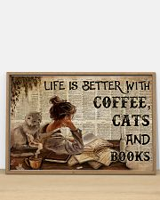 Poster Book coffee cats and book 36x24 Poster poster-landscape-36x24-lifestyle-03